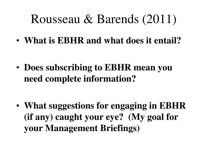 Rousseau & Barends (2011)