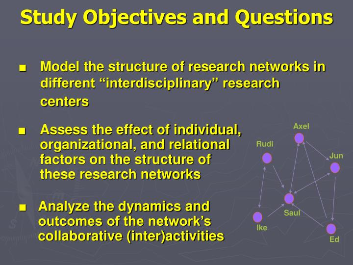 Study Objectives and Questions
