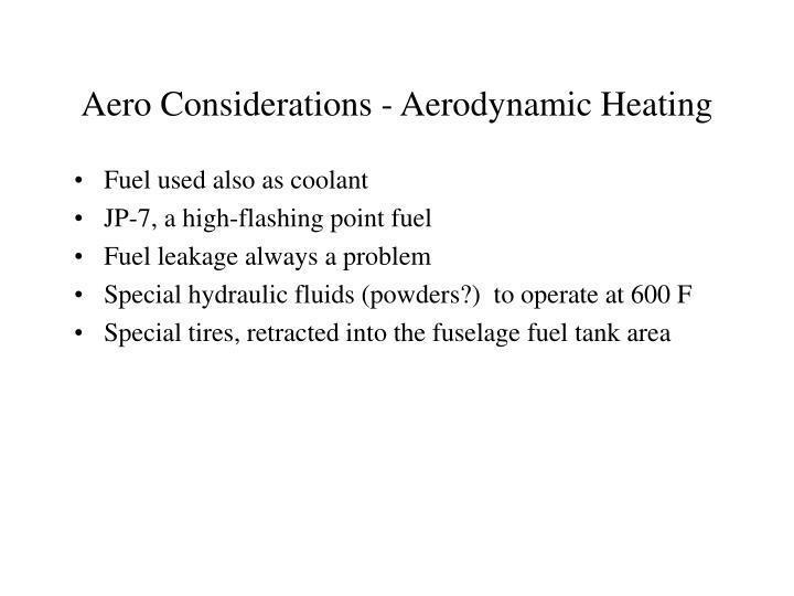 Aero Considerations - Aerodynamic Heating