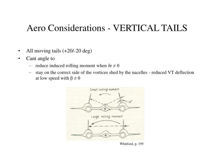 Aero Considerations - VERTICAL TAILS
