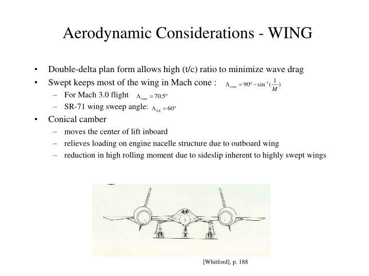 Aerodynamic Considerations - WING