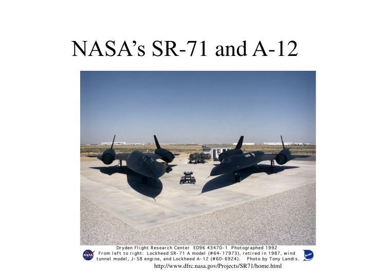 NASA's SR-71 and A-12