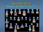 word wall words routine for adding words