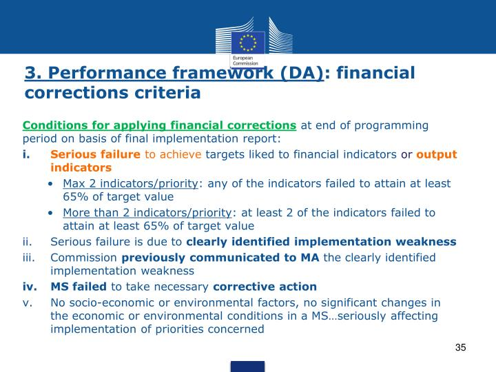 3. Performance framework (DA)
