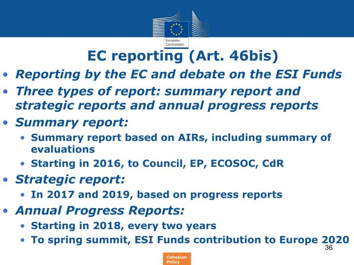 EC reporting (Art. 46bis)