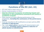 functions of the mc art 43