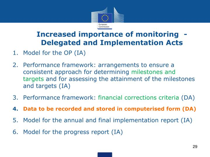 Increased importance of monitoring  -