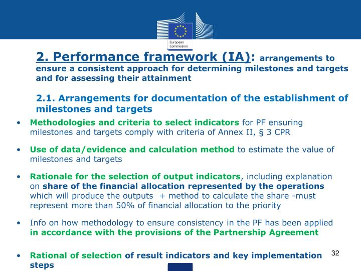 2. Performance framework (IA)