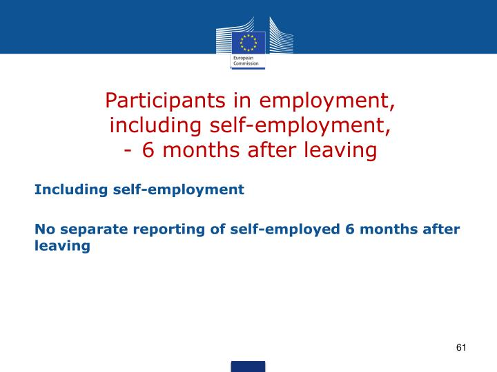 Participants in employment,