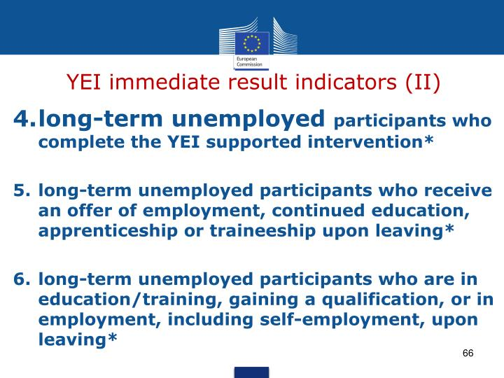 YEI immediate result indicators (II)