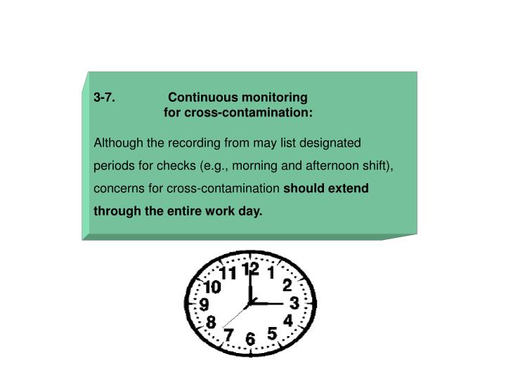 3-7.               Continuous monitoring