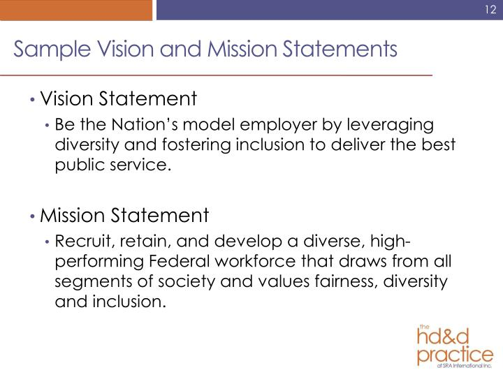 Sample Vision and Mission Statements