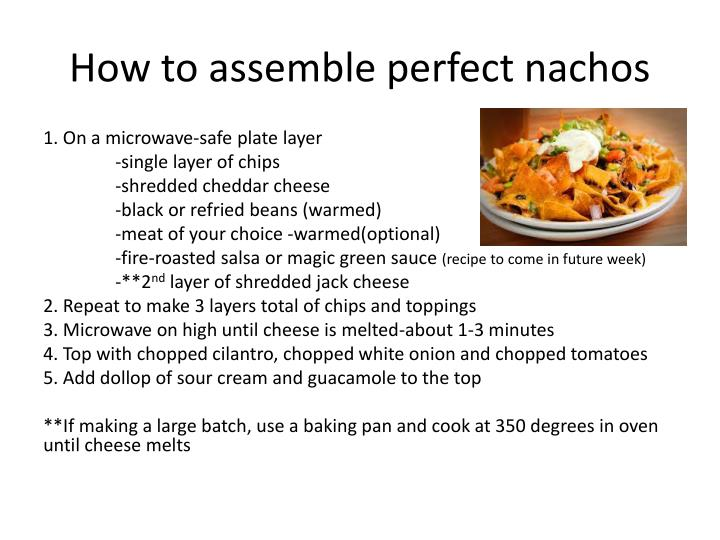 How to assemble perfect nachos