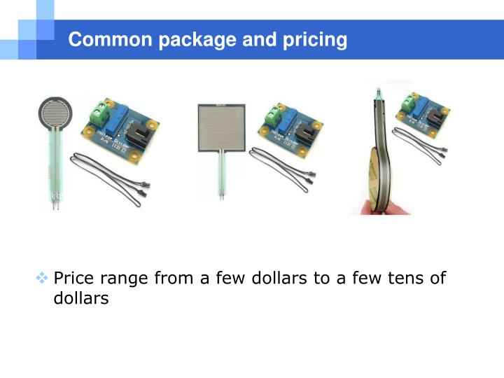 Common package and pricing