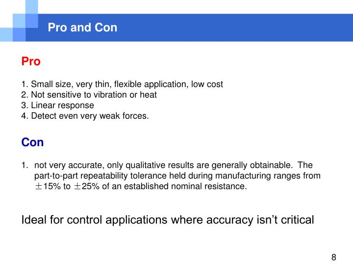 Pro and Con