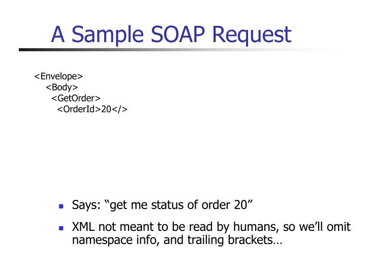A Sample SOAP Request