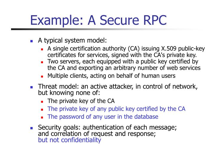 Example: A Secure RPC