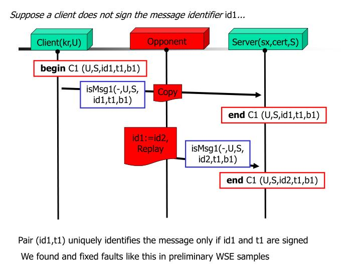 Suppose a client does not sign the message identifier