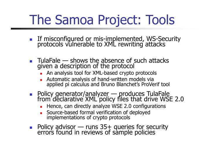 The Samoa Project: Tools