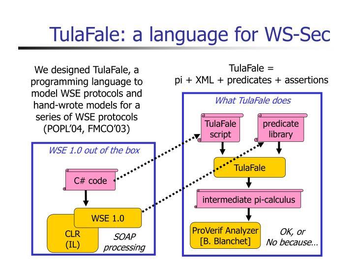 TulaFale: a language for WS-Sec