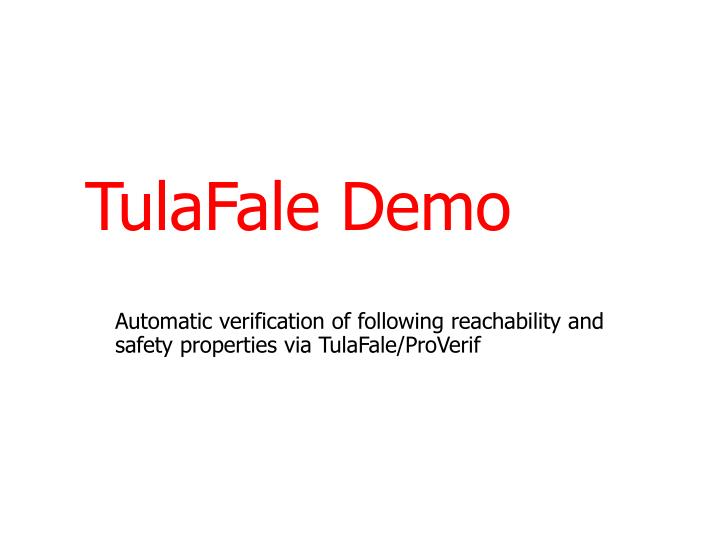 TulaFale Demo