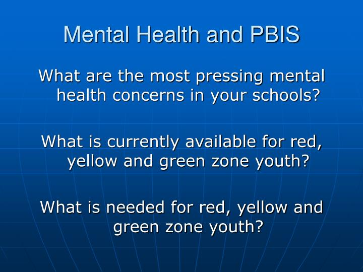 Mental Health and PBIS