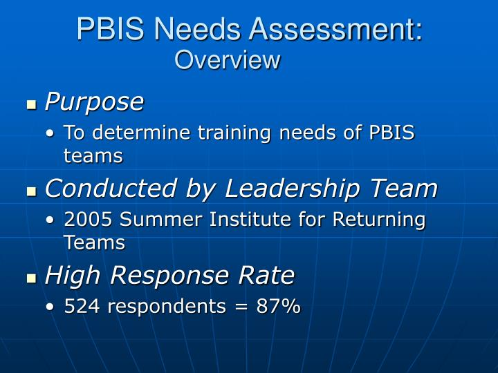 PBIS Needs Assessment: