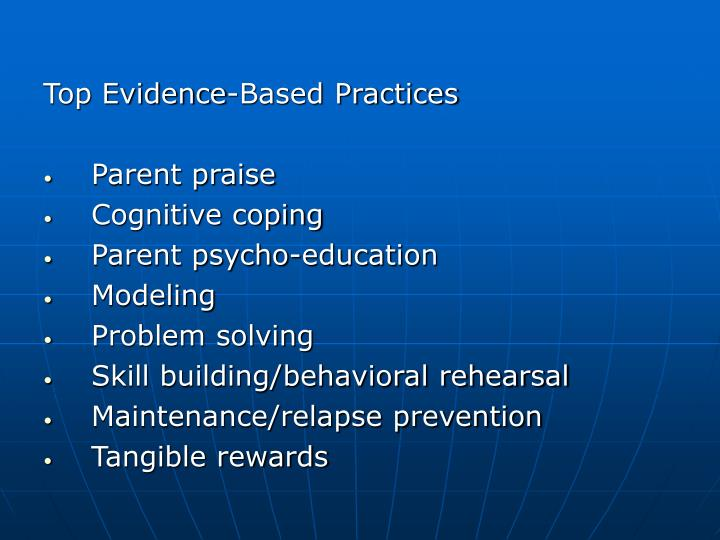 Top Evidence-Based Practices