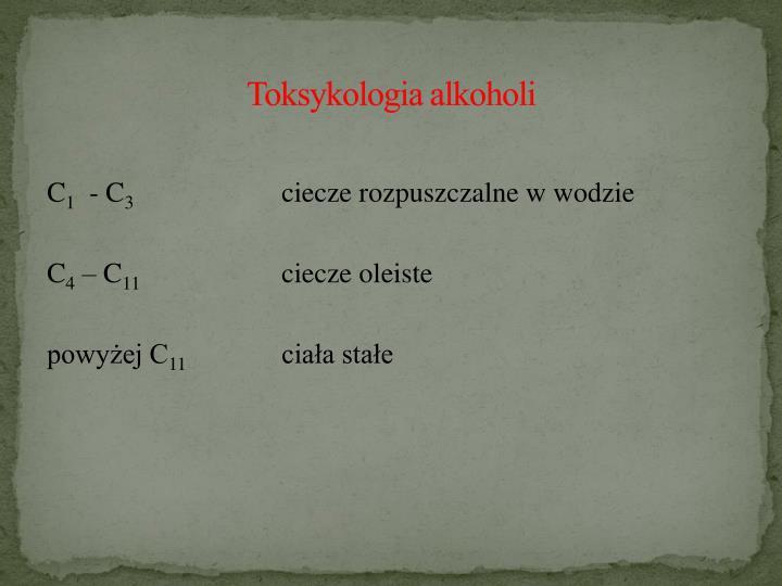Toksykologia alkoholi