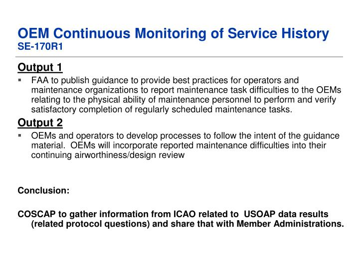 OEM Continuous Monitoring of Service History