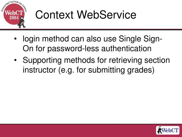 Context WebService