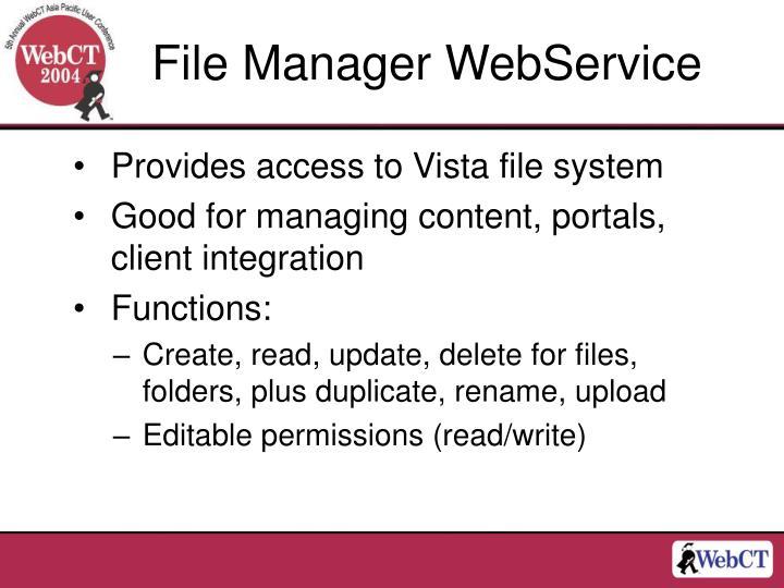 File Manager WebService