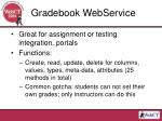 gradebook webservice