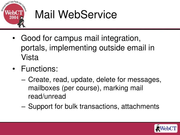 Mail WebService