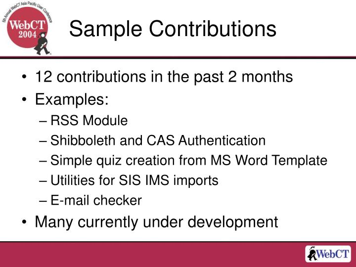 Sample Contributions