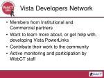 vista developers network