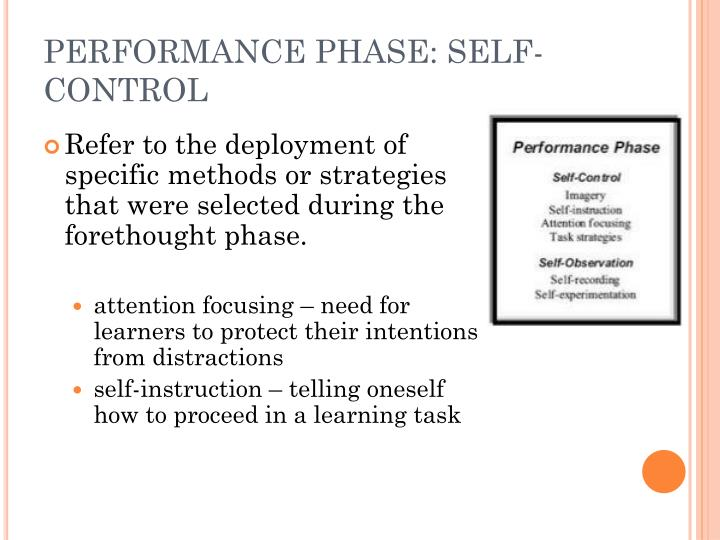 PERFORMANCE PHASE: SELF-CONTROL