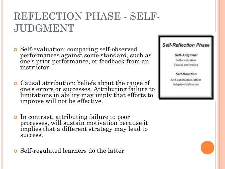 REFLECTION PHASE - SELF-JUDGMENT