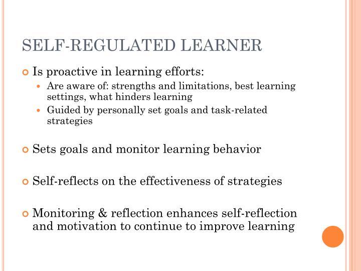 SELF-REGULATED LEARNER