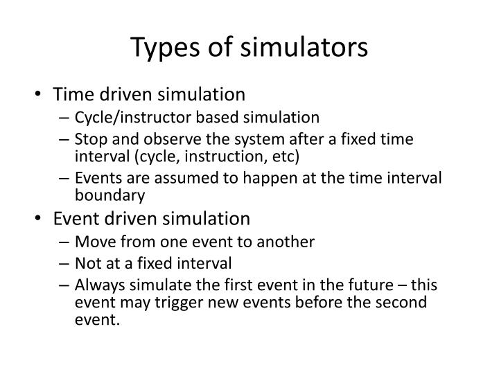 Types of simulators