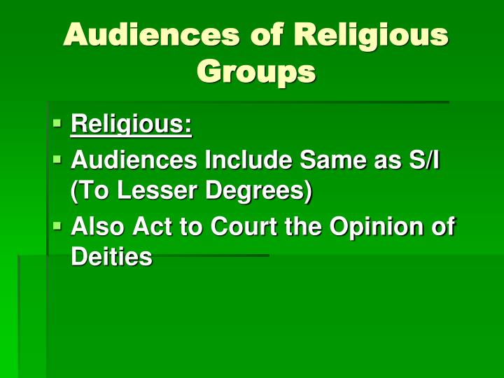 Audiences of Religious Groups