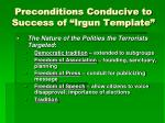 preconditions conducive to success of irgun template1