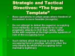 strategic and tactical directives the irgun template