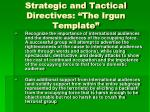 strategic and tactical directives the irgun template1
