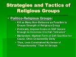 strategies and tactics of religious groups1