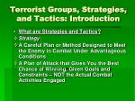 terrorist groups strategies and tactics introduction