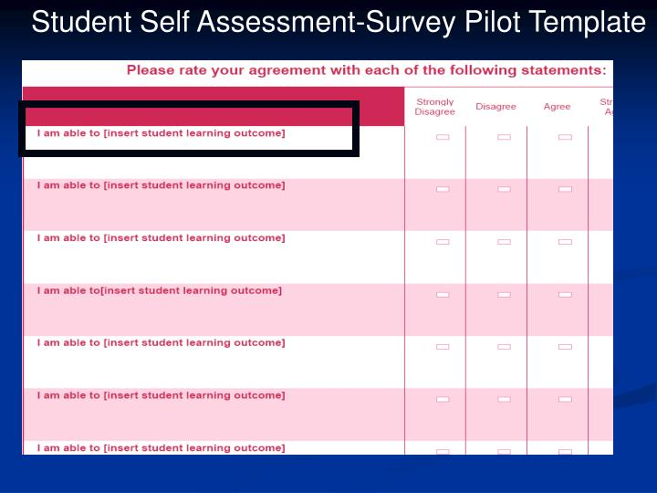 Student Self Assessment-Survey Pilot Template