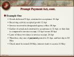 prompt payment act cont