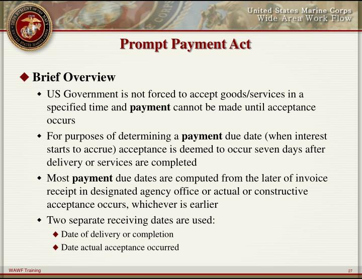 Prompt Payment Act