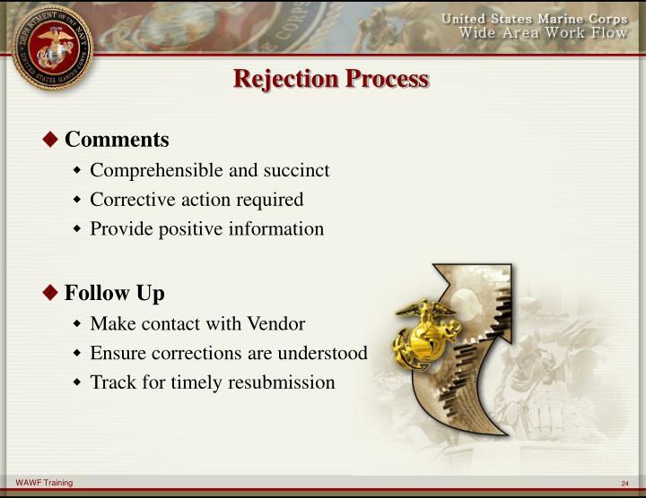 Rejection Process